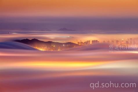青岛平流雾奇景