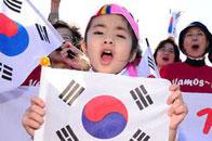 韩国小萝莉迎接球队