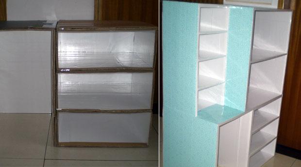 废纸箱的大变身——收纳柜