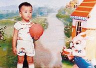 童年的刘翔是十分好动