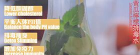 解渴特饮:黄瓜柠檬排毒水