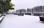 实景呈现:雪中楼盘最妖娆