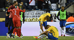 美洲杯-巴西0-1 奥古斯托低头
