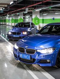 唯美的蓝精灵BMW-媳妇当车模