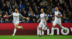 欧冠-尤文2-0客胜波尔图 阿尔维斯破门