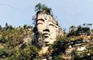 航拍世界最大千年天然佛