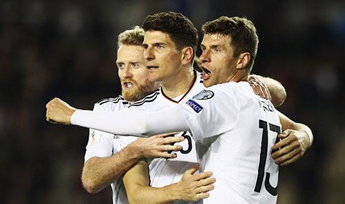 世预赛-许尔勒2射1传 穆勒戈麦斯破门德国4-1胜