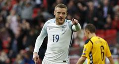 世预赛-英格兰2-0 瓦尔迪指点江山