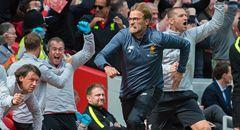 英超-利物浦3-0晋级欧冠 克洛普狂奔