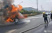 纸屑卷入轮胎致车辆自燃