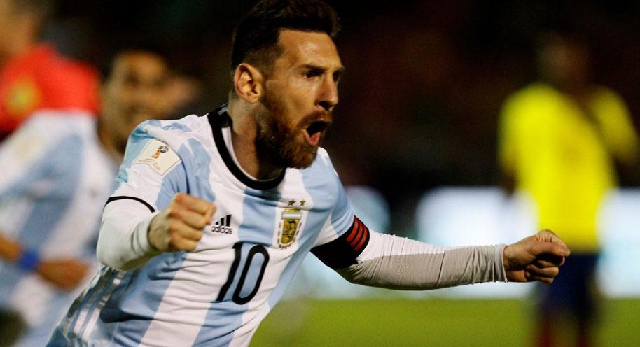 世预赛-阿根廷3-1 梅西帽子戏法