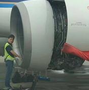 """""""向发动机扔硬币致航班取消""""再现 涉事乘客被控制"""