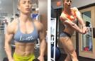 世界体脂最低女人秀肌肉