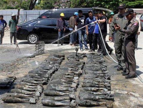 泰国工地现炸弹 距今已有超过45年的历史!