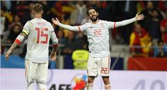 热身赛-西班牙6-1阿根廷 伊斯科戴帽笑开花