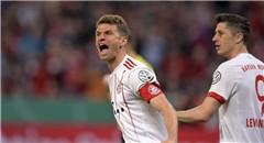 德国杯-拜仁6-2 穆勒大三元激情咆哮