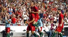 欧国联-葡萄牙1-0 A席破门怒吼庆祝